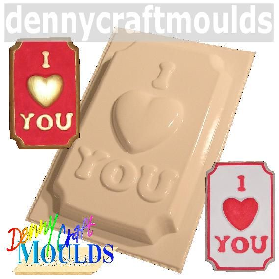 I LOVE YOU PLASTER MOULD