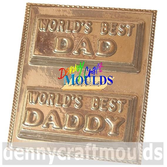World's Best Dad Daddy Chocolate Mould