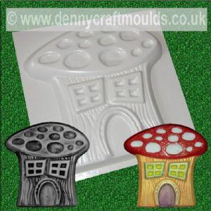 FAIRY MUSHROOM HOUSE CONCRETE MOULD GARDEN FAERIE MOLD   Denny Craft