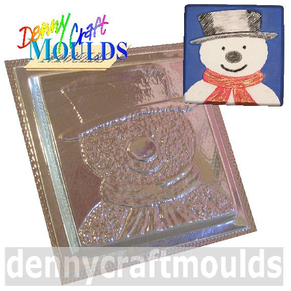 SNOWMAN PLAQUE MOULD FOR CHOCOLATE OR PLASTER