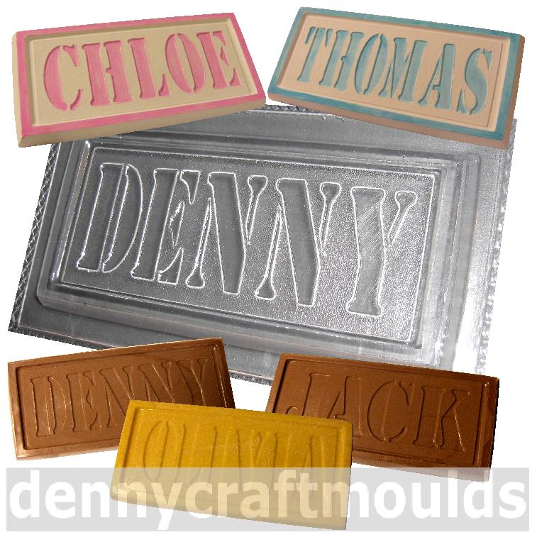 PERSONALISED NAME CHOCOLATE MOULDS CUSTOM MADE MOLDS