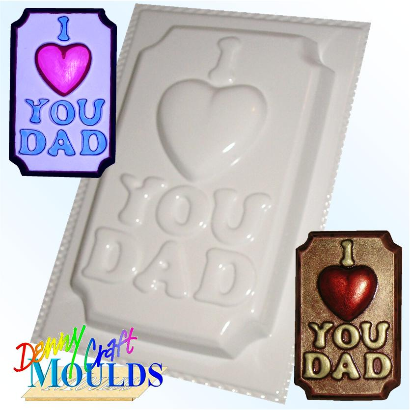 I LOVE YOU DAD PLASTER MOULD