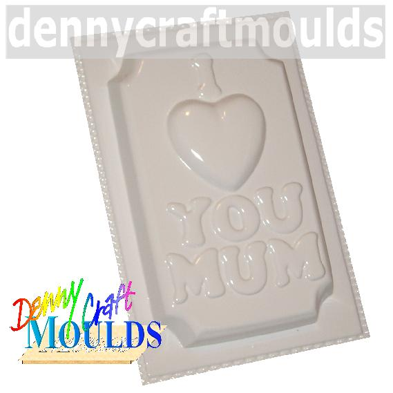 I LOVE YOU MUM PLASTER MOULD