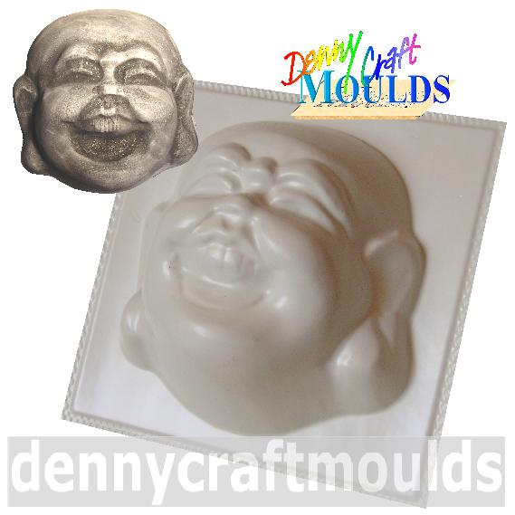 Laughing Buddha Head Plaster Concrete Mould