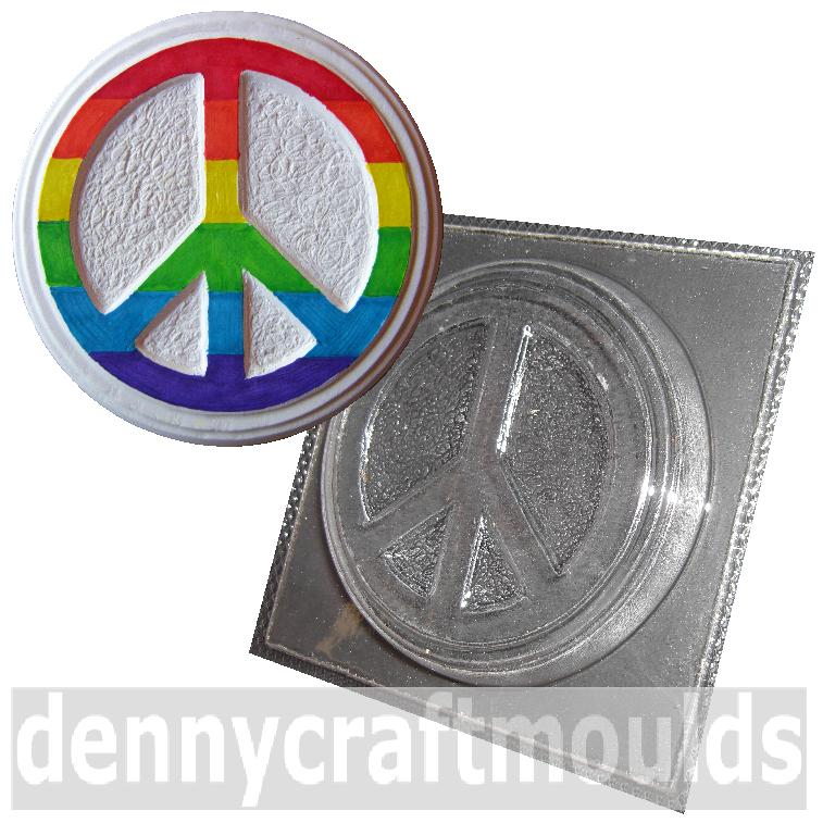 Peace Symbol Mould Plaster Plaque Mold