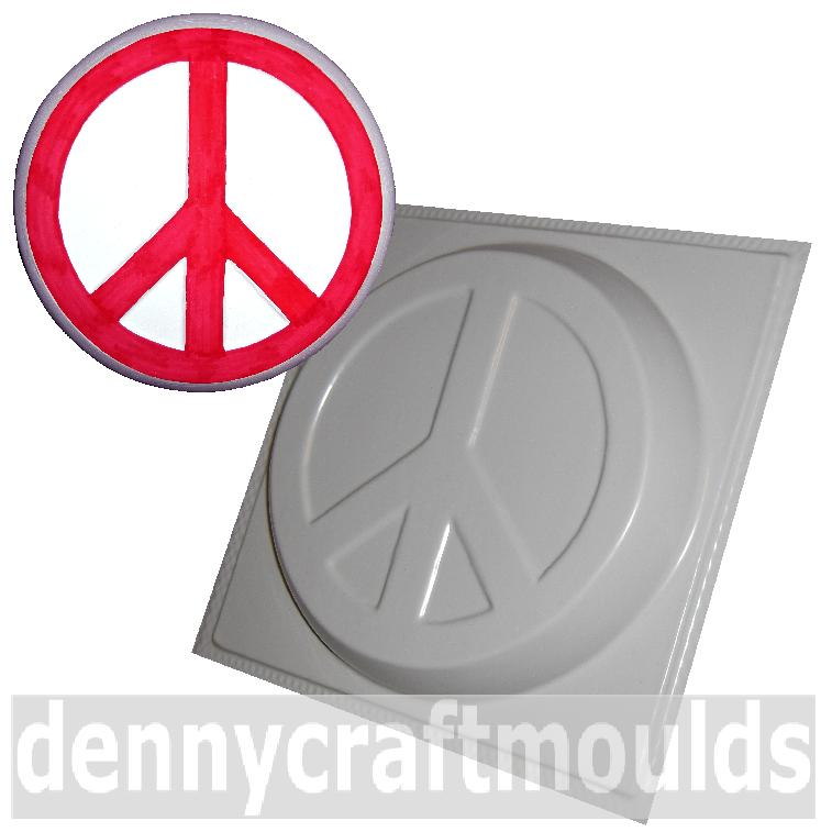 Large Peace Sign Concrete Garden Mold