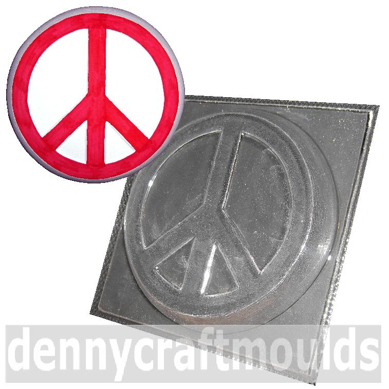 Large Peace Sign Plaster Mould